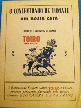 Livrinho, tipo brinde de 1945, sobre o Concentrado de Tomate