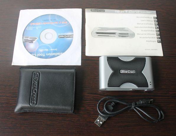 Leitor de cartões de memória USB 2.0 16 em 1 da Silvercrest