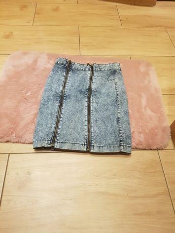 jeansowa spodnica s