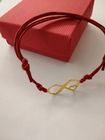 Regulowana bransoletka sznurek srebro 925