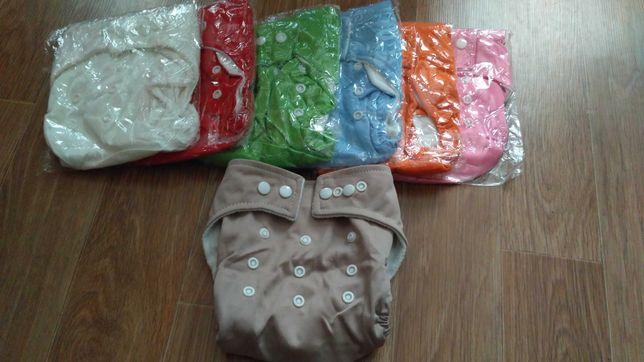 Багаторазові підгузки комплект 3шт многоразовие подгузники, памперси