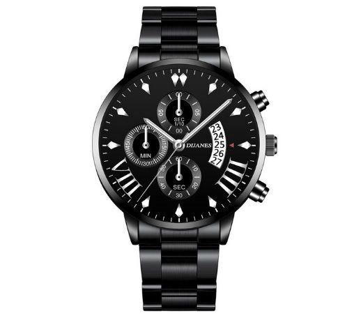 Nowy zegarek męski- stal nierdzewna - kwarcowy