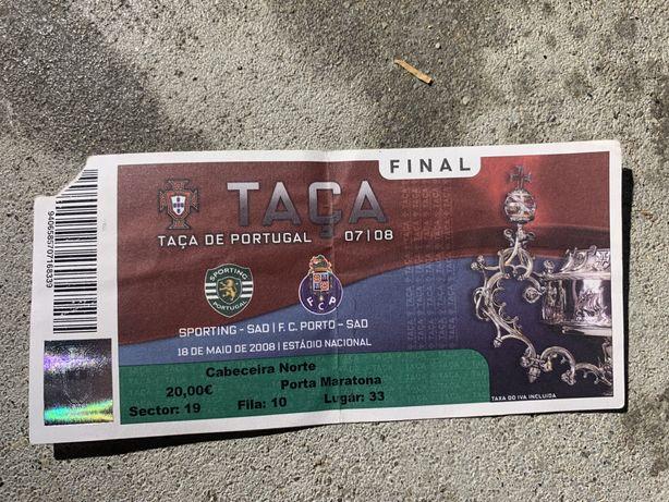 Bilhete do Final da Taça de Portugal Sporting