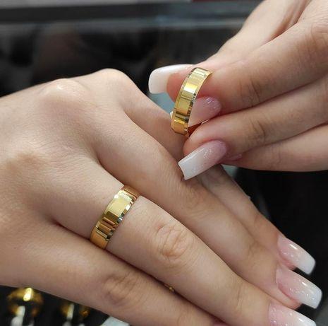 Piękne Pełne Elegancji Złote Obrączki Ślubne