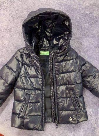 Куртка курточка Benetton пуховик на пуху