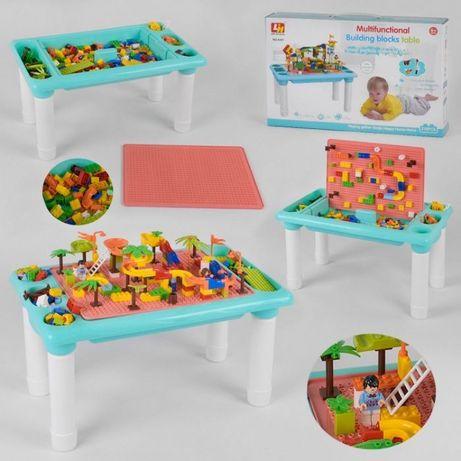 Столик игровой + конструктор лего 300 деталей стол для рисования
