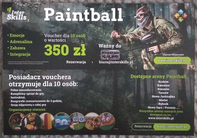 Voucher Paintball dla 10 osób o wartości 350zł