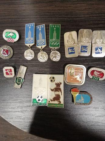 Значки олимпиада 80