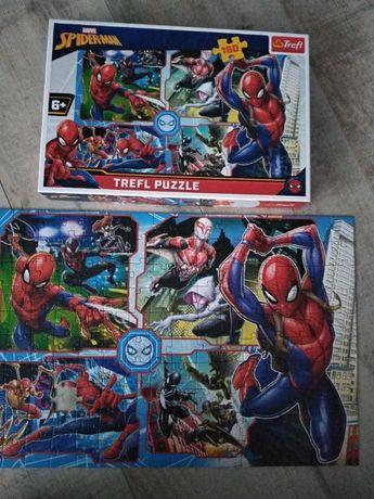 jak nowe puzzle układanka 15357 f. Trefl spider-man 160 elementów