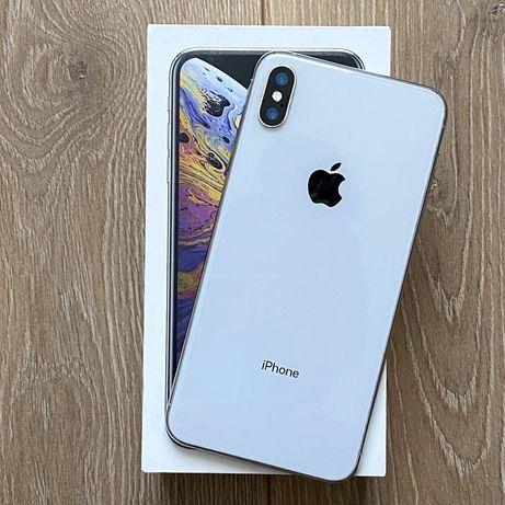Iphone xs max 64 silver состояние 10/10