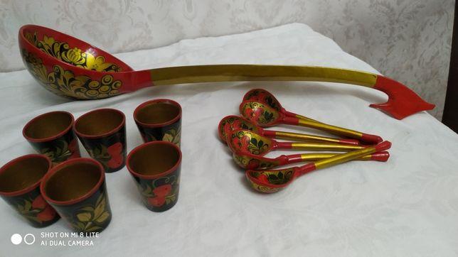 Посуда деревянная Хохлома