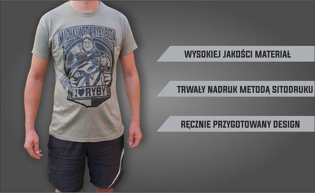 Koszulka dla wędkarza wędkarska PREZENT
