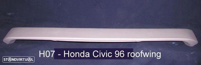 Aileron / lip / spoiler traseiro Honda Civic EK,EJ 96-00 2/4 portas Type R Look