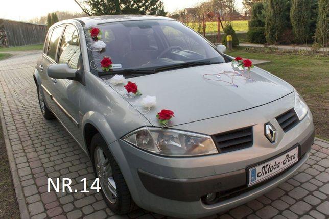 Śliczna dekoracja NOWA na samochód do ślubu.Różne kolory