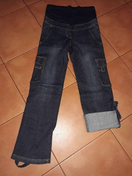 Spodnie ciążowe 2w1 jeans dżins 36