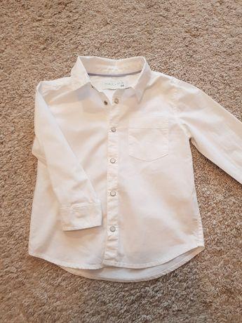Koszula biała bawełniana chłopieca 98