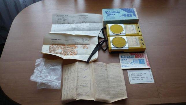 Kultowe, fabrycznie nowe radio Tento Vega 341, kompletny zestaw, ZSRR