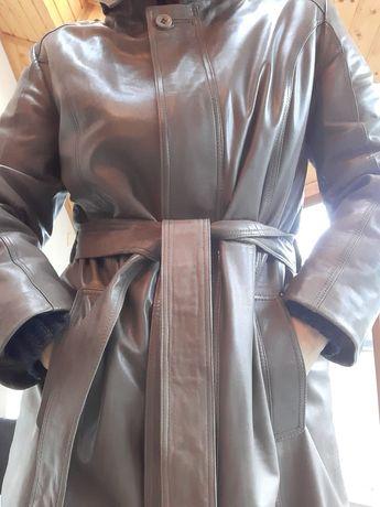 Ochnik skórzany płaszcz z podpinką XXL