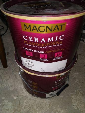 Farba Magnat Ceramic C45 i Śnieżka lateksowa grunt.