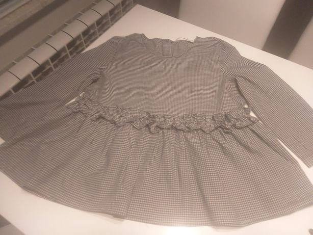 Bluzka z falbanka ZARA z tylu zapinana  na guziki