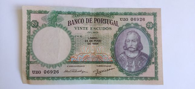 Vinte Escudos 1954 D. António Luiz de Menezes