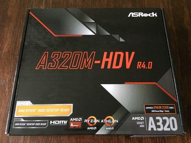 Материнская плата ASRock A320M-HDV R4.0 (sAM4, AMD A320) 4200 р