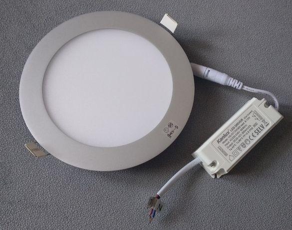 Lampa downlight led 12W okrągła szara do sufitów podwieszanych