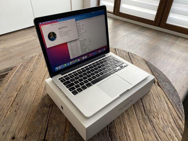 """MacBook Pro 13""""; I5 16GB DDR3; SSD 256GB; 357 cykli baterii!; FVAT 23%"""