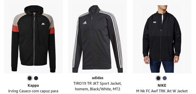 Material desportivo Marcas. Originais casacos calças e fatos de treino