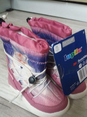 Чобітки, дутики, терміки для дівчинки Lupilu