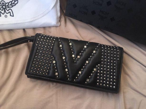 MCM кошелек кожаный, женский брендовый клатч оригинал