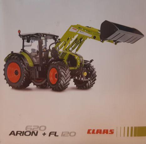 Oryginalna zabawka CLAAS ARION 620+FL 120, skala 1:32