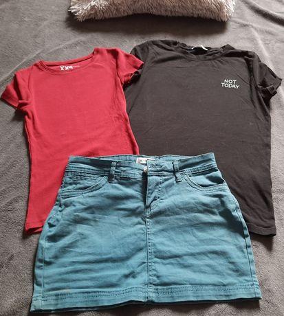 Komplet Spodniczka sinsay xs i gratis dwie bluzeczki