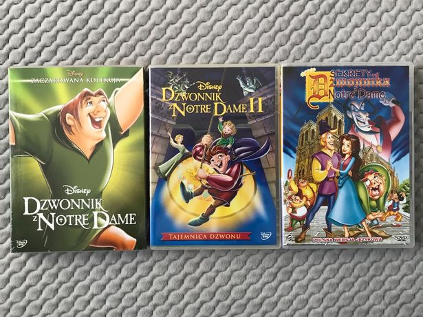 """""""Dzwonnik z Notre Dame..."""" - 3 bajki - DVD"""