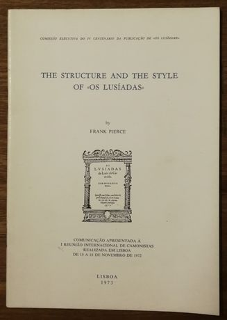 """the structure and the style of """" lusíadas """", 1973, frank pierce"""