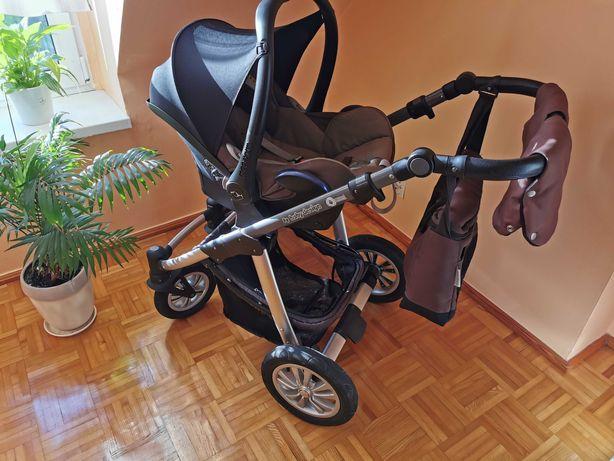 Wozek Baby Desing Comfort brąz 3w1 nosidełko Maxi Cosi Cabriofix