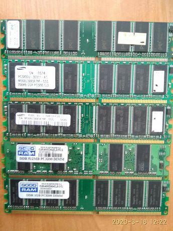 Оперативная память на ПК ddr на 256,512,1024