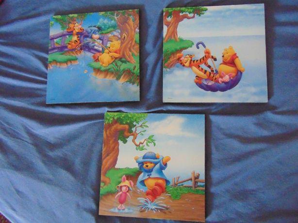 Tryptyk 3 obrazki z Disneya Kubus Puchatek