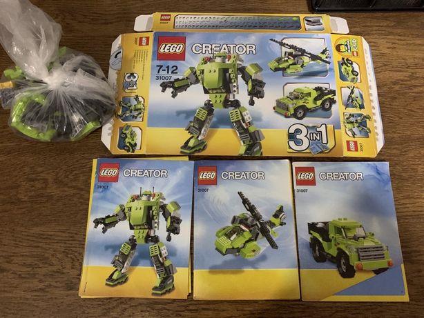 Lego 31007 3в1 робот вертолет машина оригинал конструктор Лего