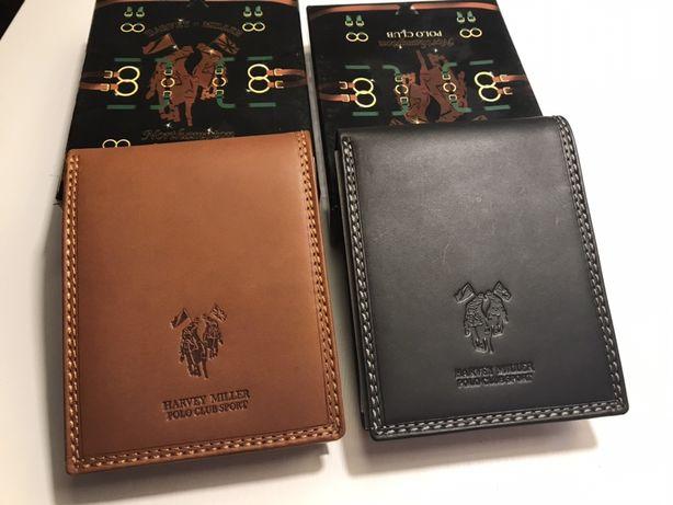 Włoski skórzany portfel marki Harvey Miller - Polo Club