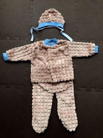 Теплый костюм (комплект одежды) для новорожденных 56р