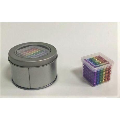 Магнитный конструктор Нео кубв боксе Разноцветный
