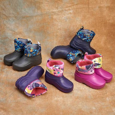 Дитячі чобітки дутіки детские сапоги сапожки дутики ботинки зимние