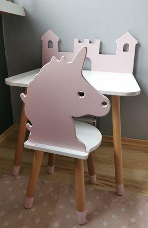 Stolik zamek + krzesełko jednorożec firmy Planetbaby
