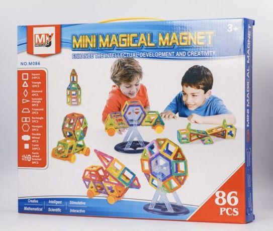 Магнитный конструктор | Mini Magical Magnet | 86 деталей