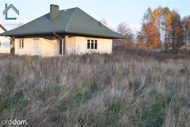 Zalesiany, dom stan surowy zamknięty, działka duża