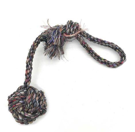 Zabawka dla psa sznur mocny z węzłem supłem szarpak gryzak 40 cm