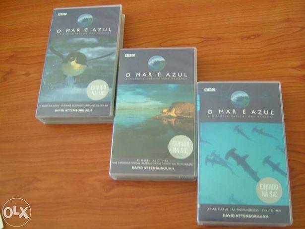 "Cassetes VHS ""O Mar é Azul"""