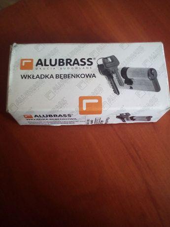 Wkladka do drzwi bebenkowa z galka ALUBRASS - nowa!!