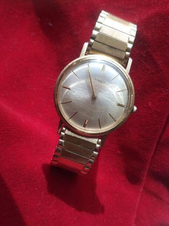 Винтажные американские часы Timex USA на родном браслете 1950-е годы